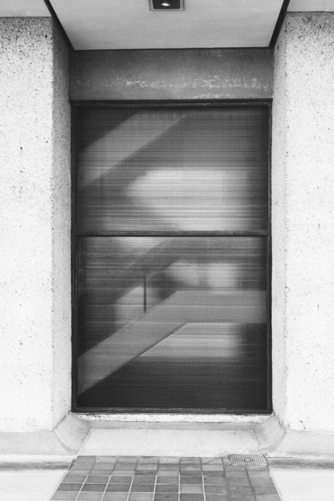 detail of Simon Fraser University Burnaby staircase