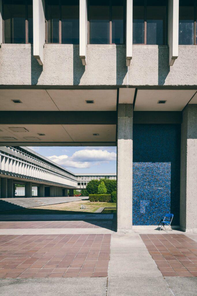 detail of Simon Fraser University architecture